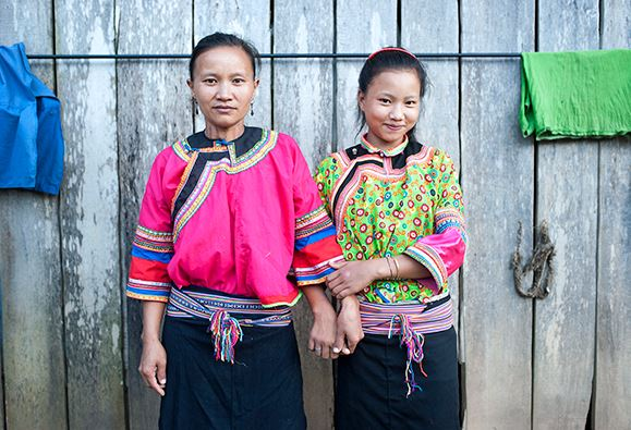 Two women from Tapeusou village in Northern Laos
